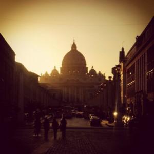 zonsondergang Vaticaan