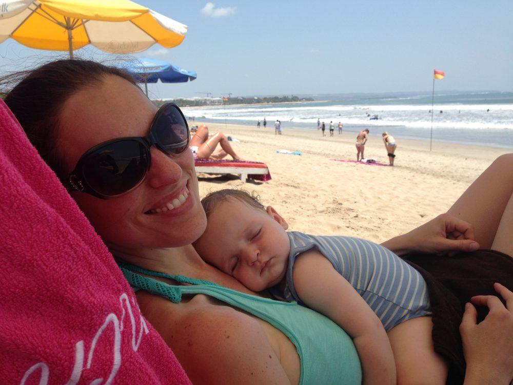 Bali met baby