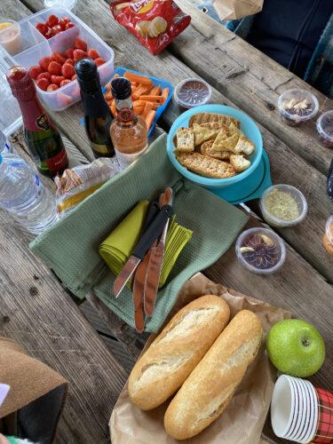 Lekkere lunch of apero